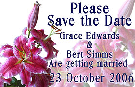 fride magnet save the date lily