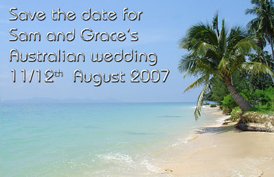Wedding save the date beach