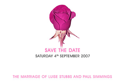 Wedding save the date Rose small